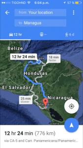 apps like google maps and waze when traveling in Honduras