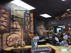 new cafe in La Ceiba