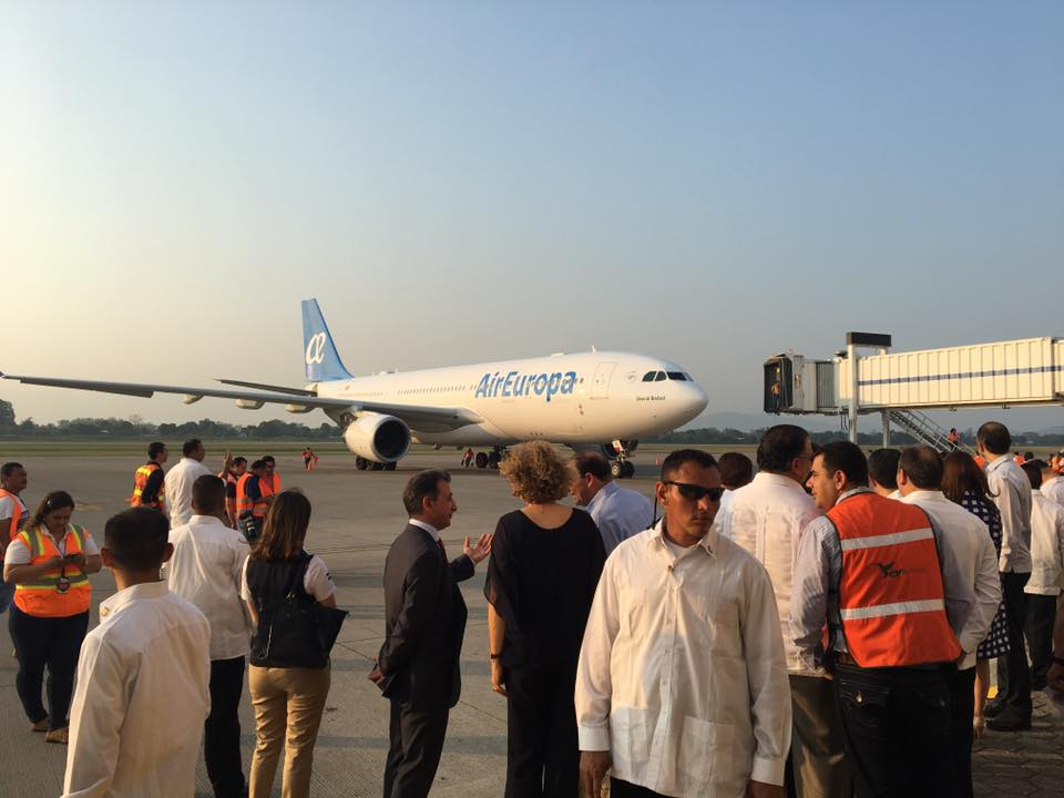 Air Europa inaugural flight in San Pedro Sula